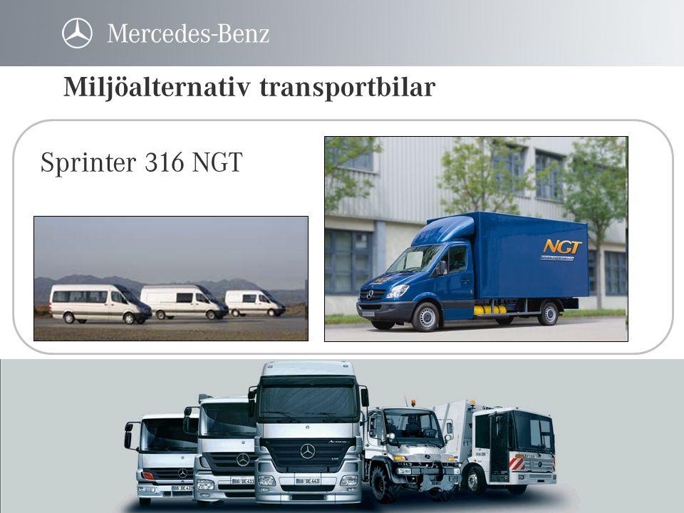 Miljöalternativ transportbilar