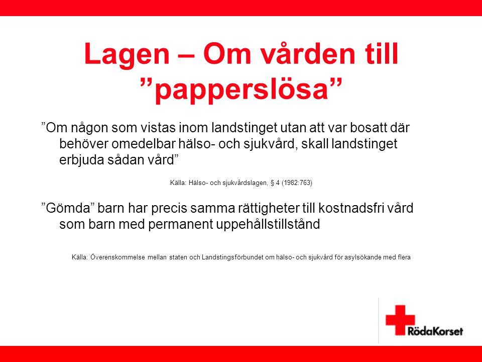 Lagen – Om vården till papperslösa