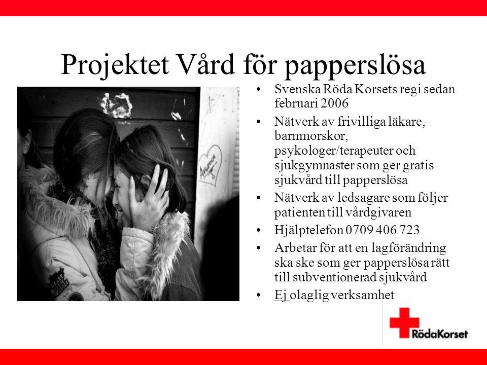 Projektet Vård för papperslösa