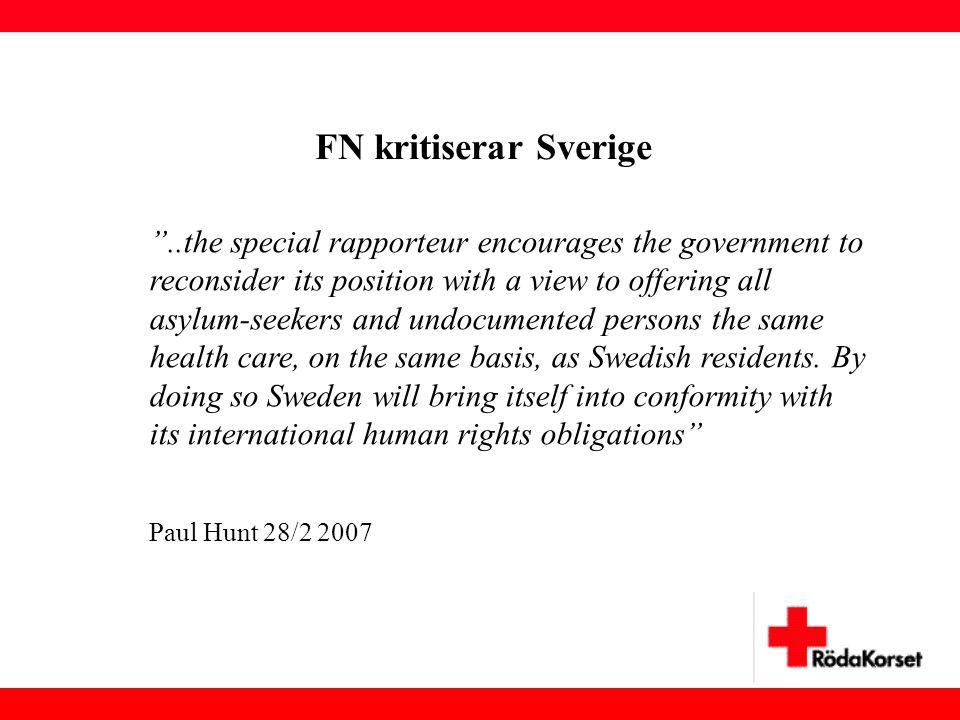 FN kritiserar Sverige