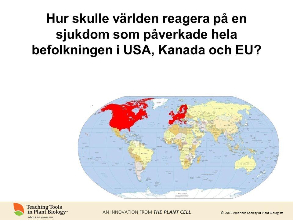 Hur skulle världen reagera på en sjukdom som påverkade hela befolkningen i USA, Kanada och EU
