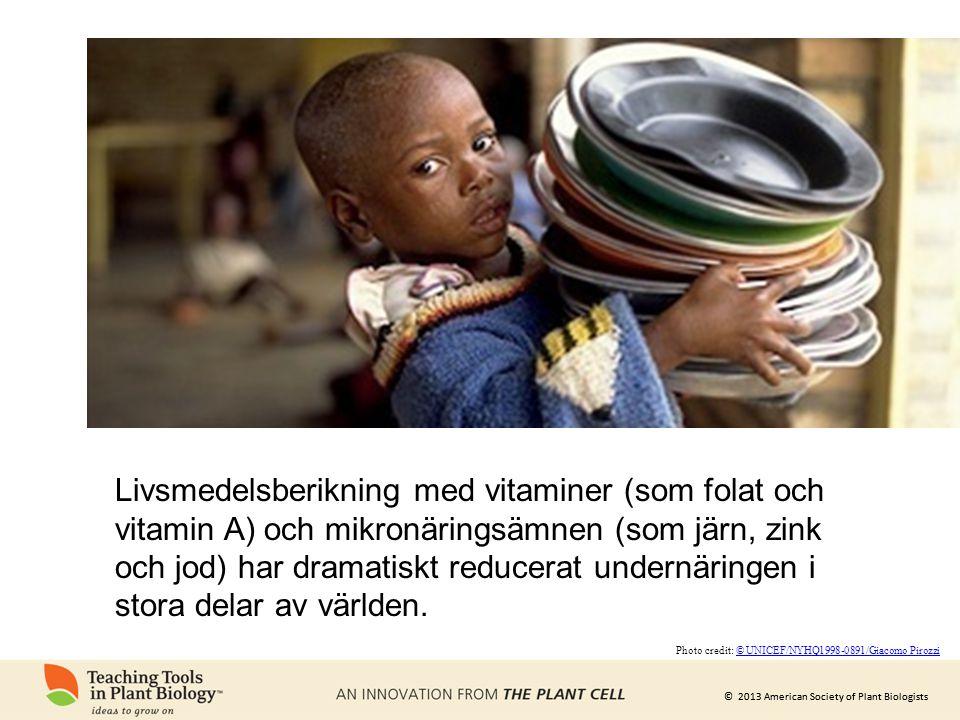 Livsmedelsberikning med vitaminer (som folat och vitamin A) och mikronäringsämnen (som järn, zink och jod) har dramatiskt reducerat undernäringen i stora delar av världen.