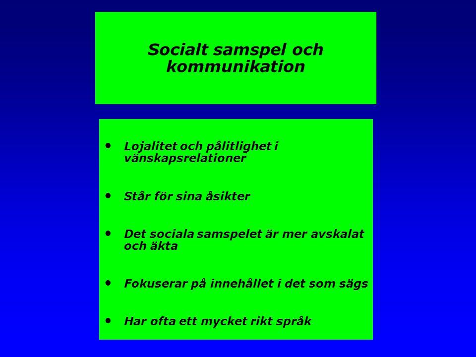 Socialt samspel och kommunikation