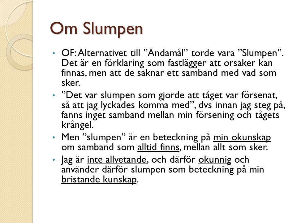 Om Slumpen