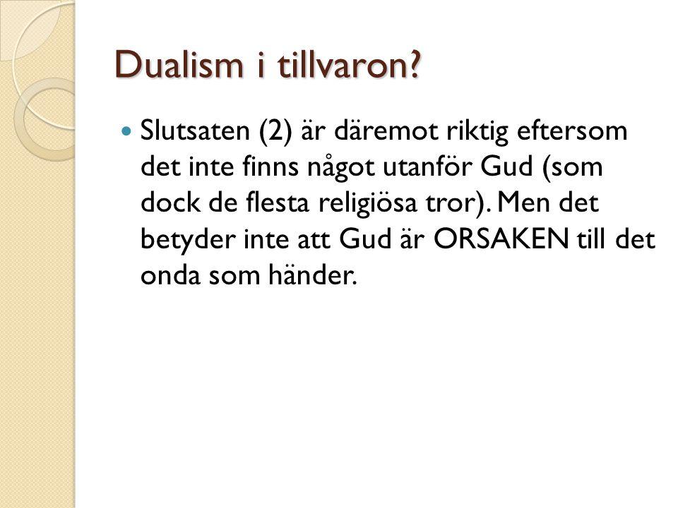 Dualism i tillvaron
