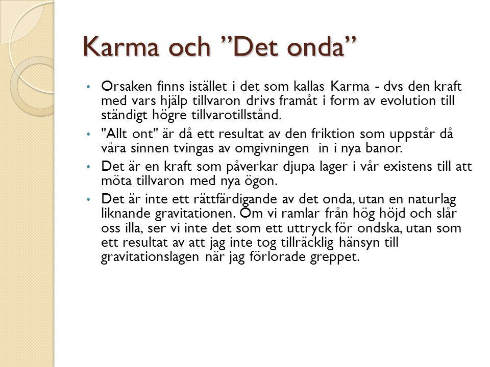 Karma och Det onda