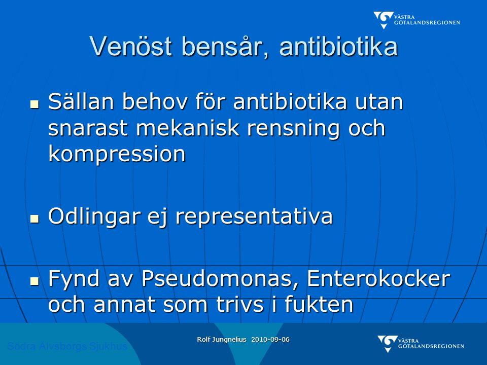 Venöst bensår, antibiotika