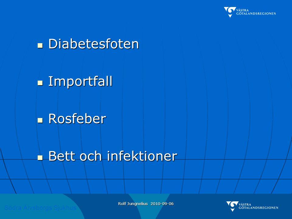 Diabetesfoten Importfall Rosfeber Bett och infektioner