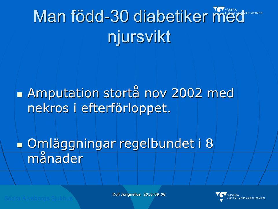 Man född-30 diabetiker med njursvikt