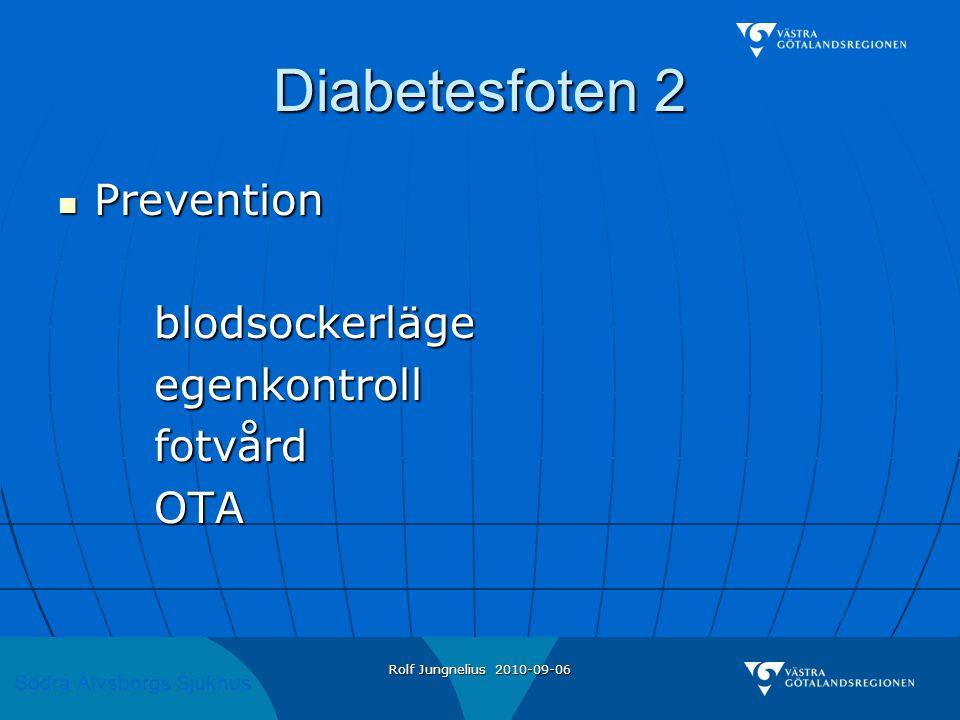 Diabetesfoten 2 Prevention blodsockerläge egenkontroll fotvård OTA