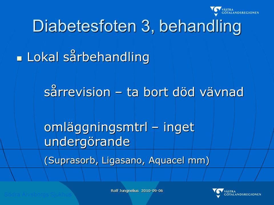 Diabetesfoten 3, behandling