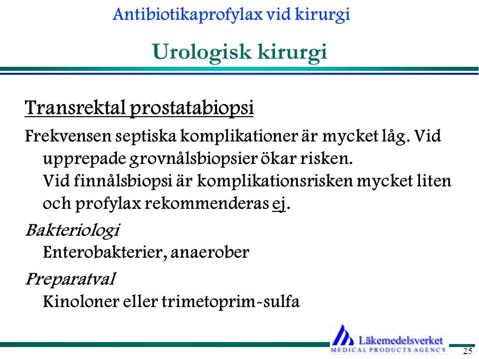 Urologisk kirurgi Transrektal prostatabiopsi