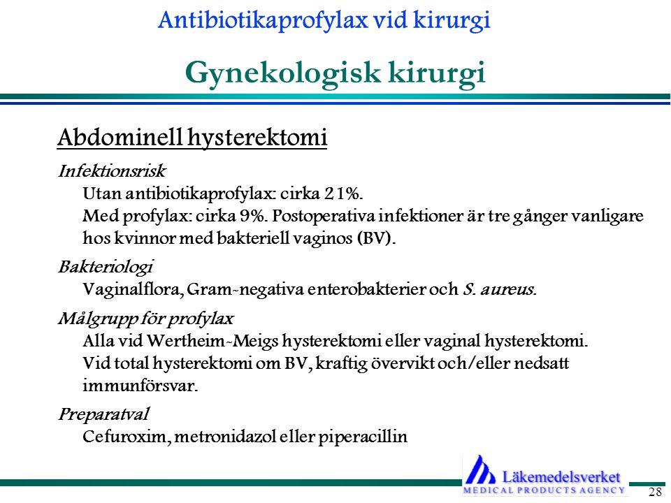 Gynekologisk kirurgi Abdominell hysterektomi