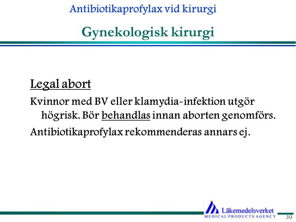 Gynekologisk kirurgi Legal abort