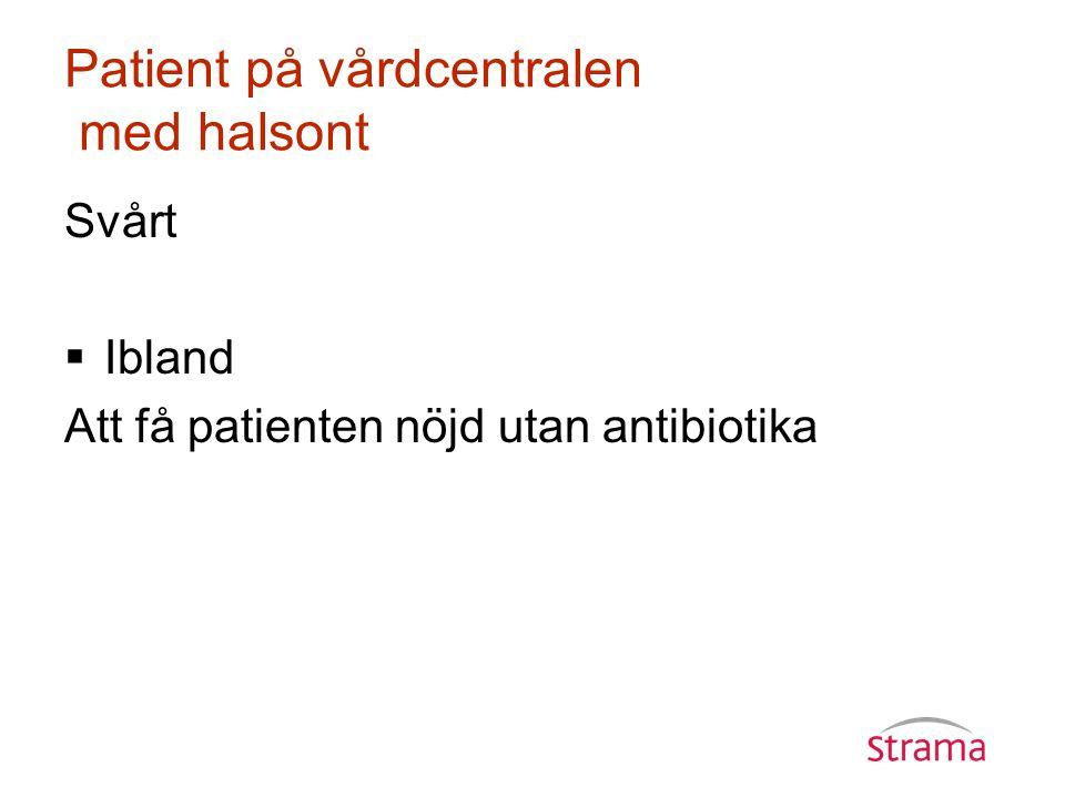 Patient på vårdcentralen med halsont