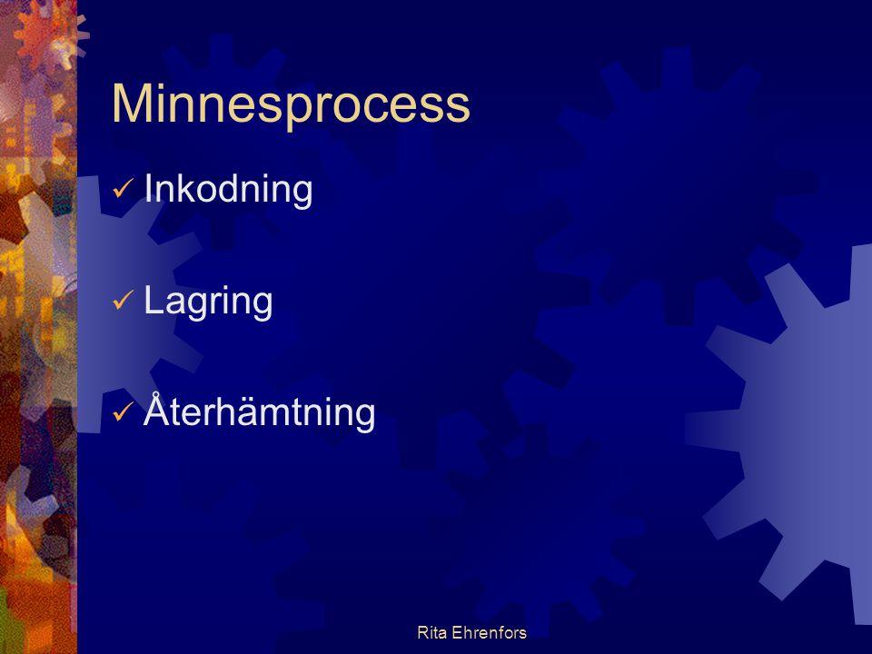 Minnesprocess Inkodning Lagring Återhämtning Rita Ehrenfors