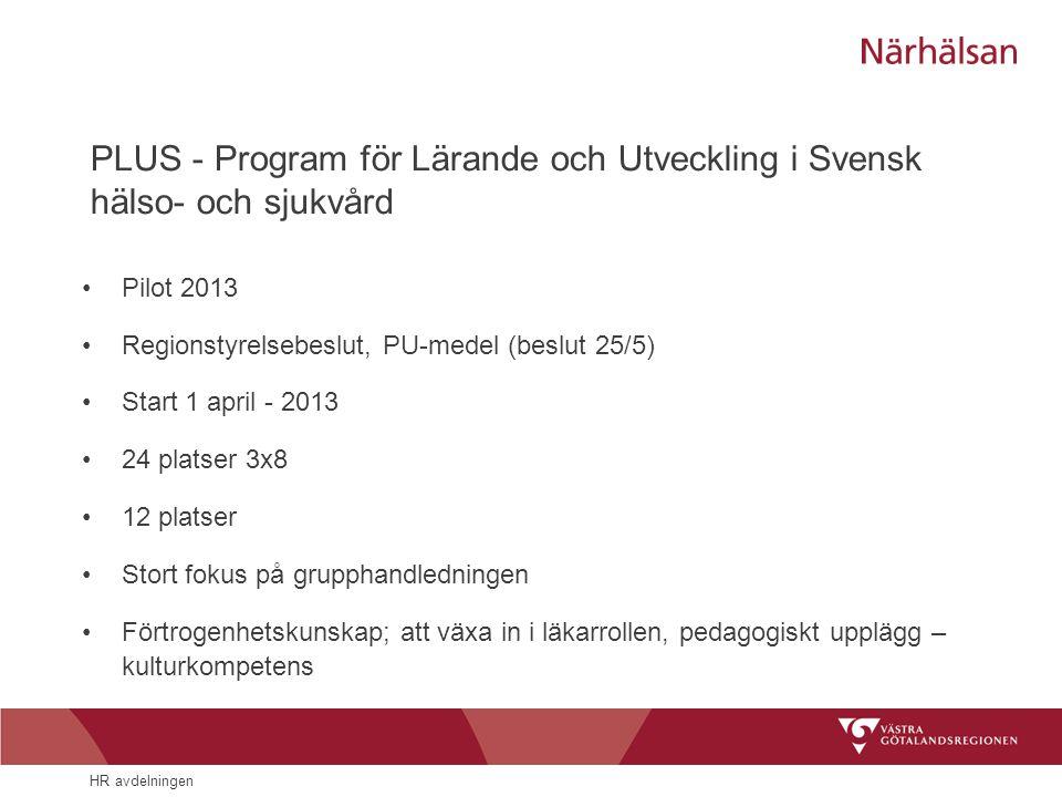 PLUS - Program för Lärande och Utveckling i Svensk hälso- och sjukvård