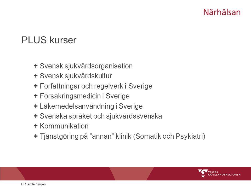PLUS kurser + Svensk sjukvårdsorganisation + Svensk sjukvårdskultur