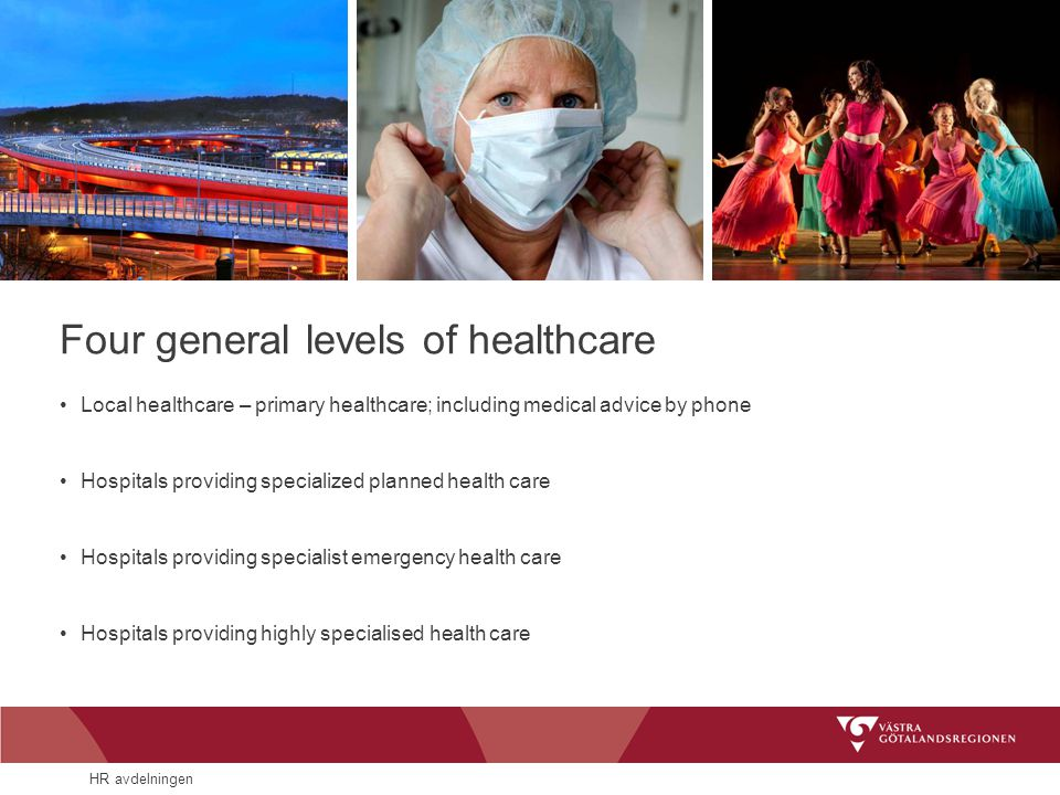 Four general levels of healthcare