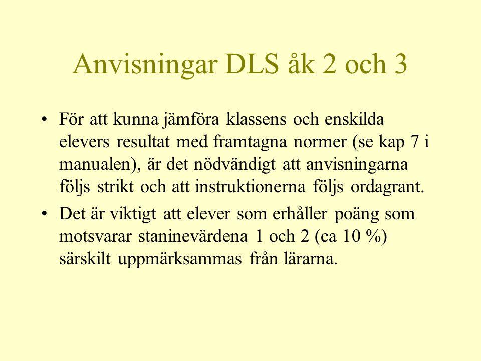 Anvisningar DLS åk 2 och 3