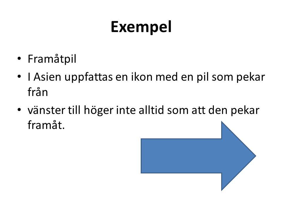 Exempel Framåtpil I Asien uppfattas en ikon med en pil som pekar från