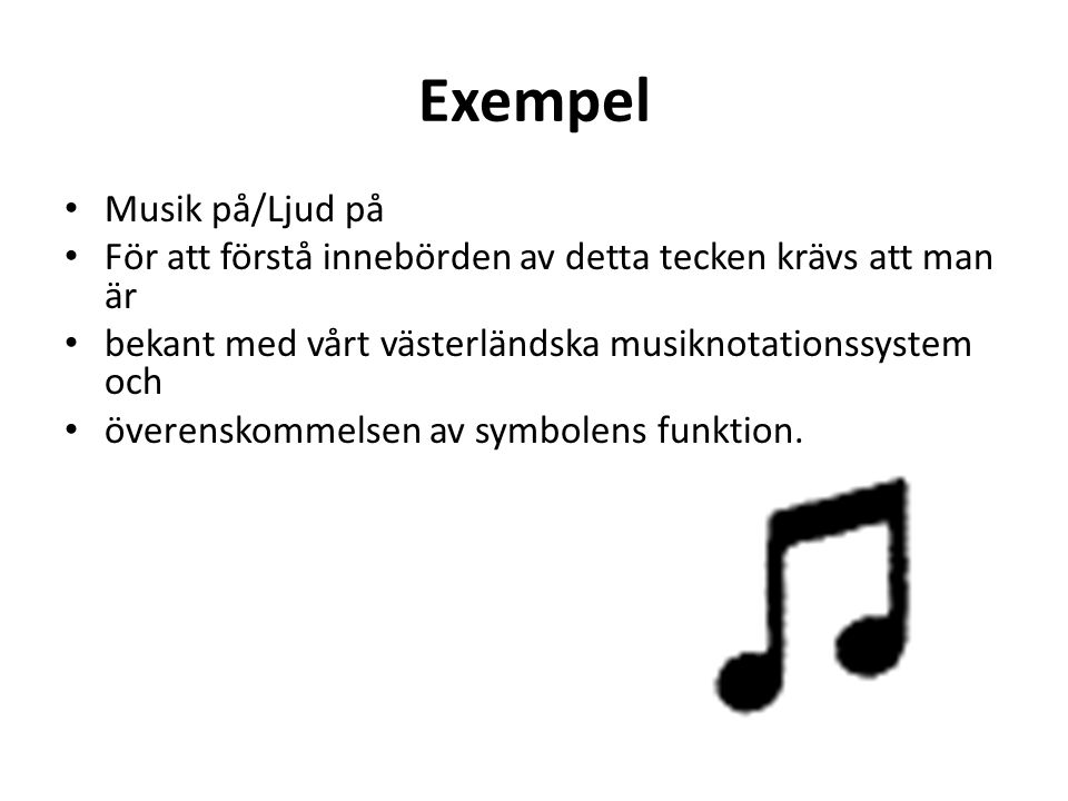 Exempel Musik på/Ljud på