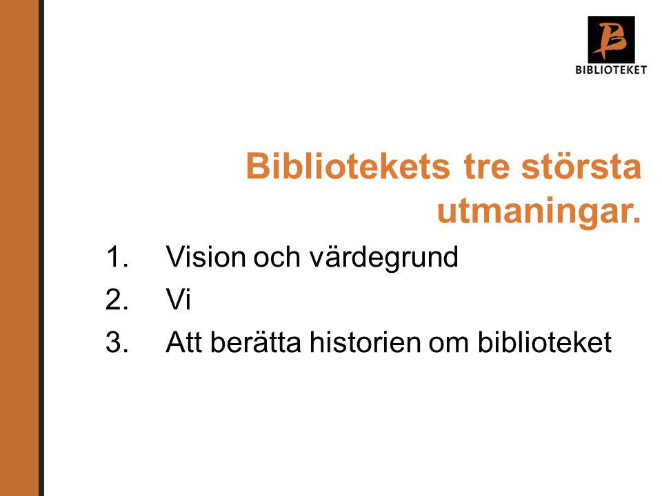 Bibliotekets tre största utmaningar.