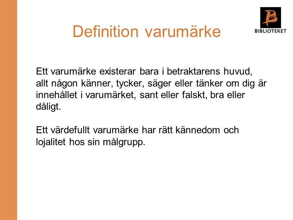 Definition varumärke
