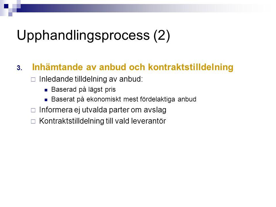 Upphandlingsprocess (2)