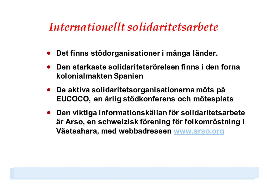 Internationellt solidaritetsarbete