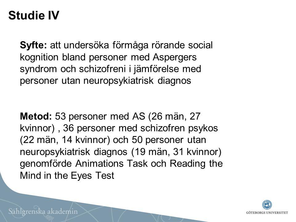 Studie IV