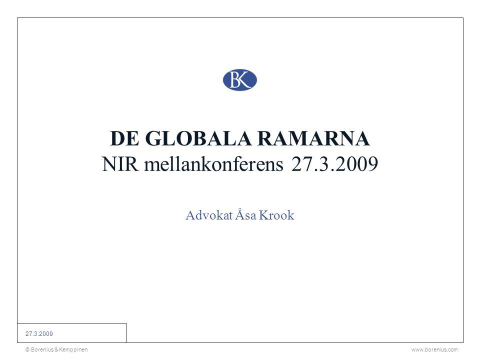 DE GLOBALA RAMARNA NIR mellankonferens 27.3.2009