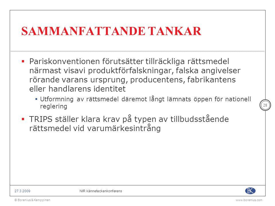 SAMMANFATTANDE TANKAR