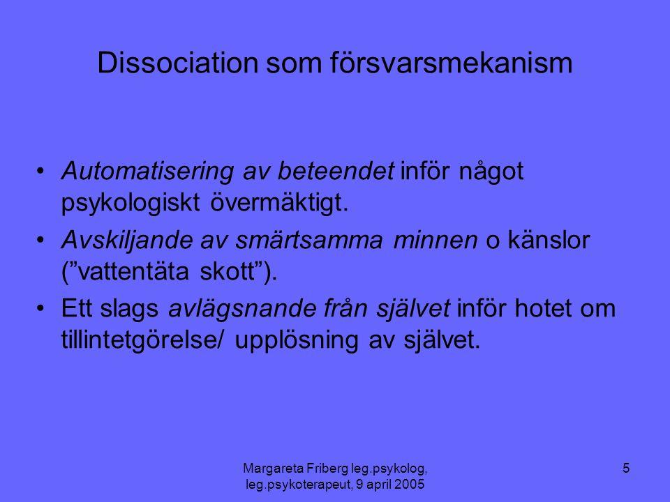 Dissociation som försvarsmekanism