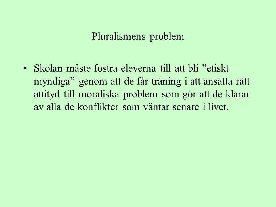 Pluralismens problem