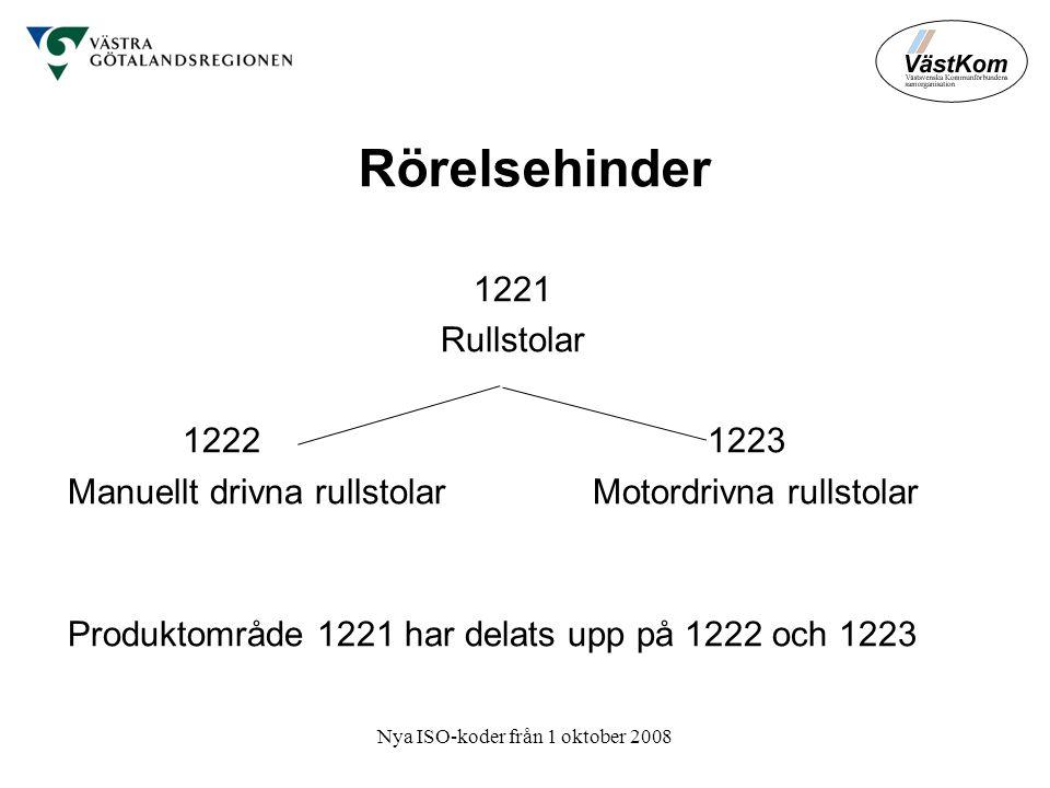 Nya ISO-koder från 1 oktober 2008