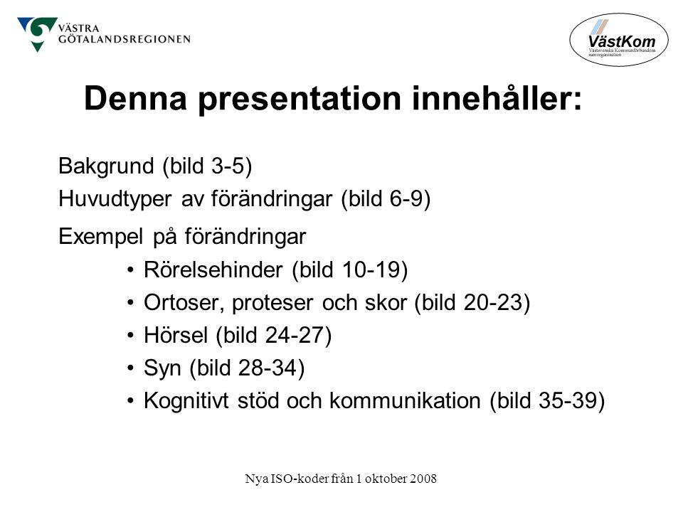 Denna presentation innehåller: