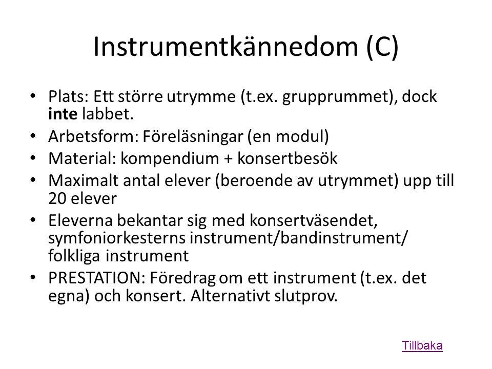 Instrumentkännedom (C)