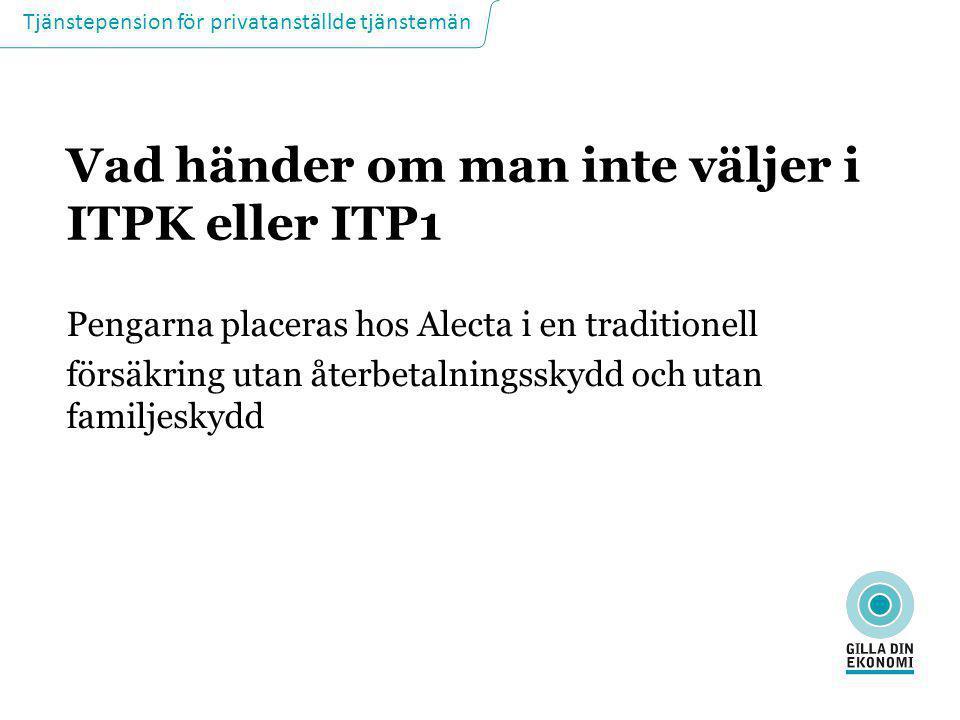 Vad händer om man inte väljer i ITPK eller ITP1