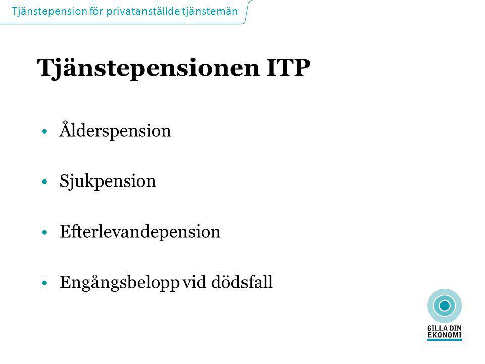 Tjänstepensionen ITP Ålderspension Sjukpension Efterlevandepension