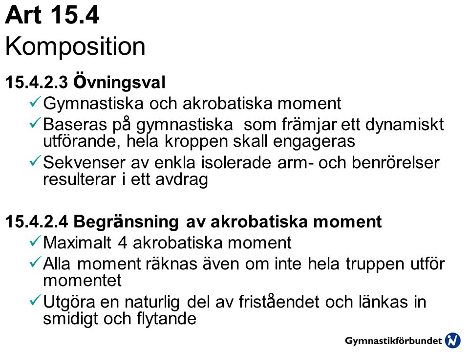 Art 15.4 Komposition 15.4.2.3 Övningsval