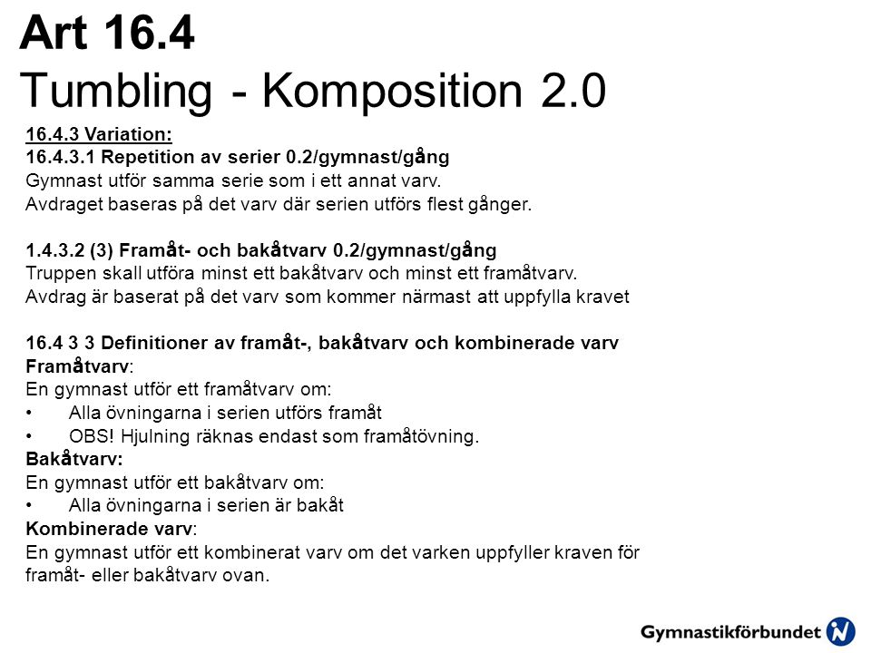 Art 16.4 Tumbling - Komposition 2.0