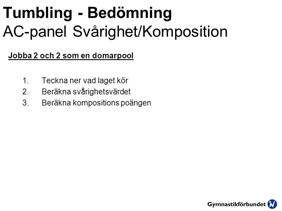 Tumbling - Bedömning AC-panel Svårighet/Komposition