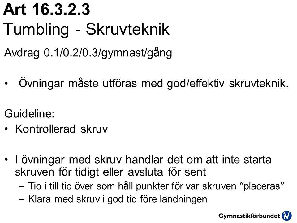 Art 16.3.2.3 Tumbling - Skruvteknik