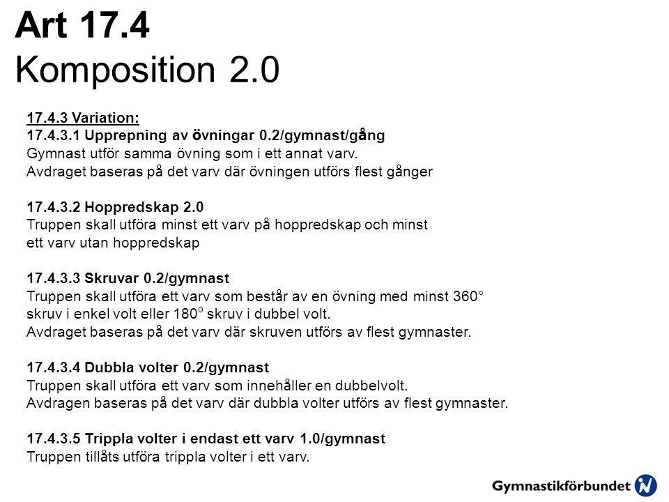 Art 17.4 Komposition 2.0 17.4.3 Variation: