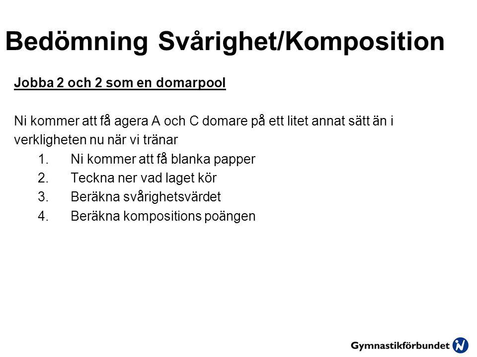Bedömning Svårighet/Komposition
