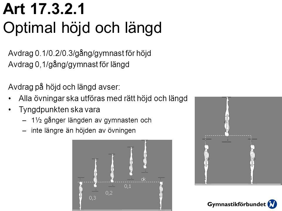 Art 17.3.2.1 Optimal höjd och längd