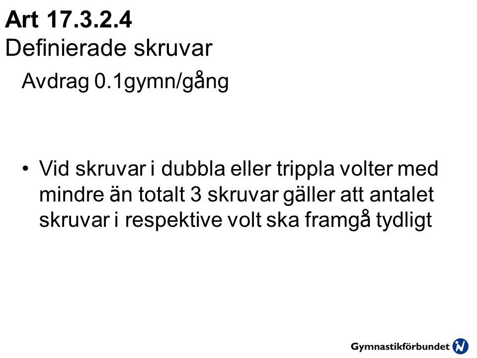 Art 17.3.2.4 Definierade skruvar