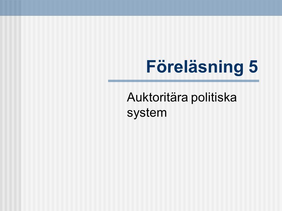 Auktoritära politiska system