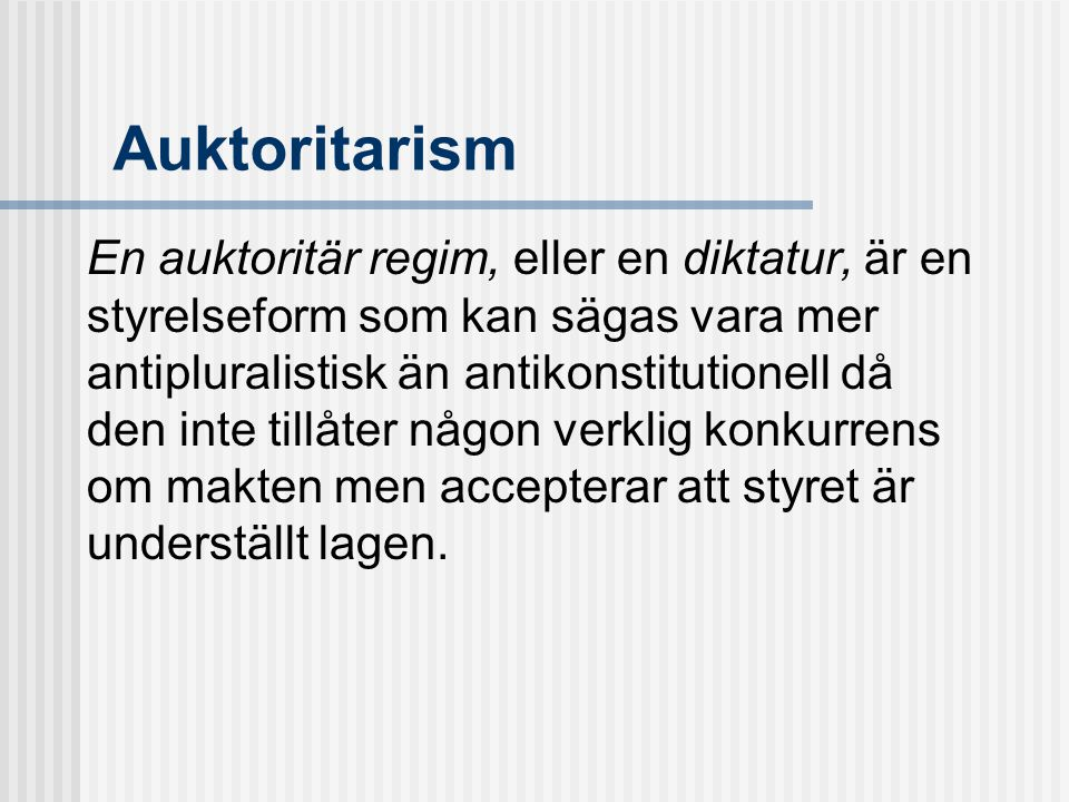 Auktoritarism